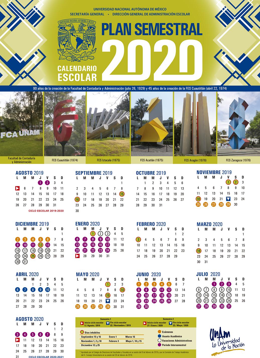 Calendario De Hacienda 2020.Calendario Escolar Enes Unidad Morelia