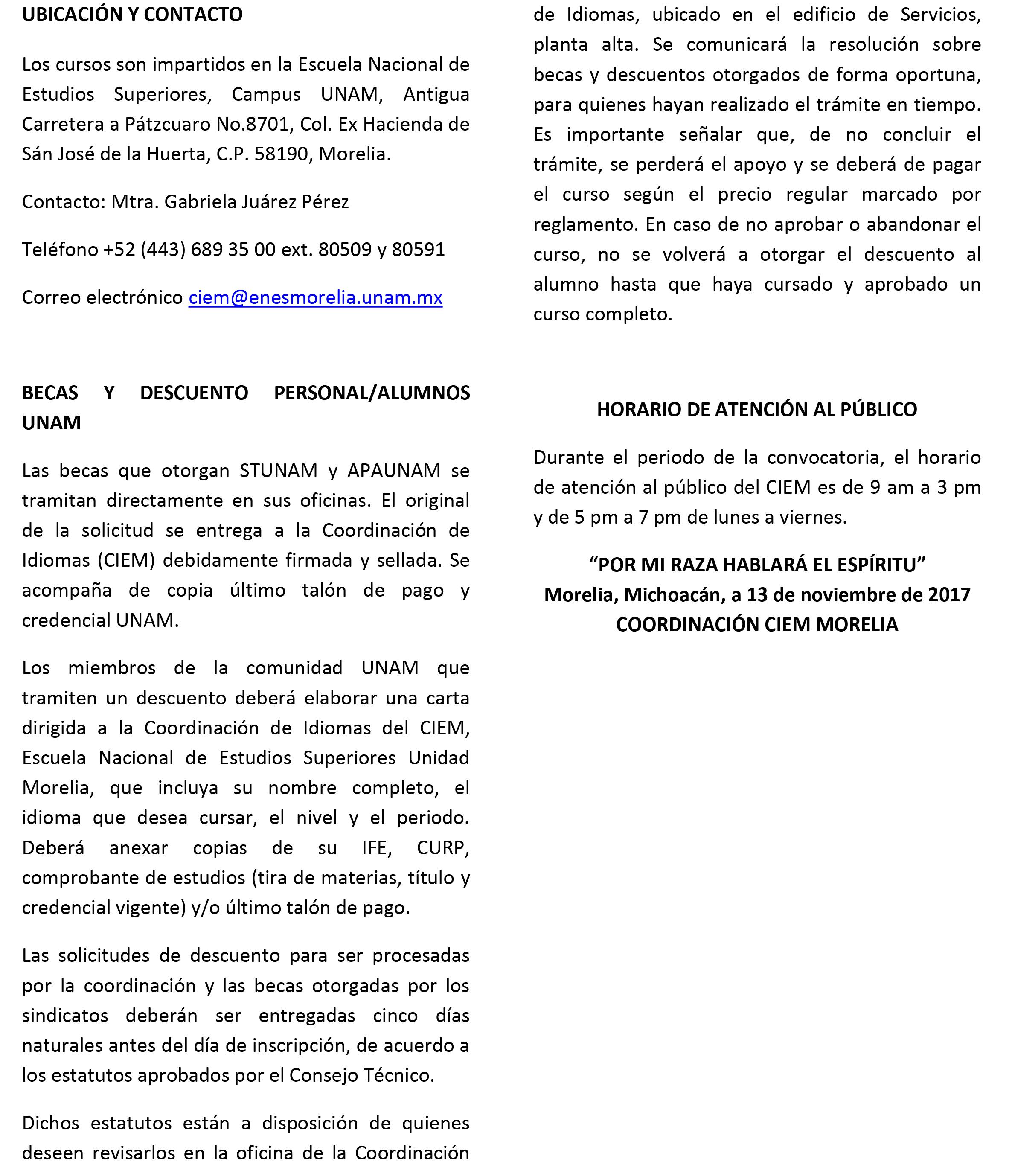 Convocatoria TrimestreI 2018-3