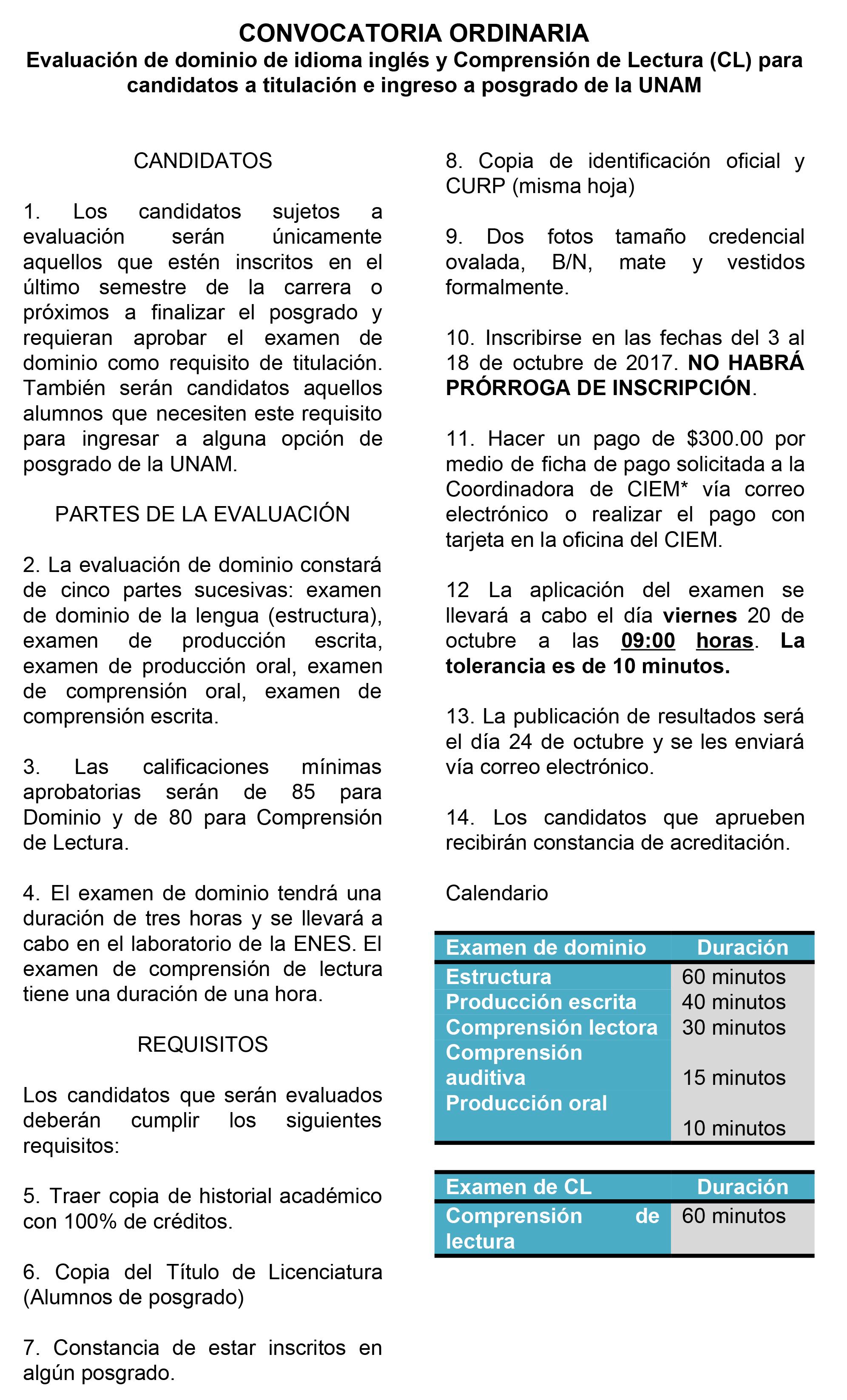 Examen CL y dominio octubre-1