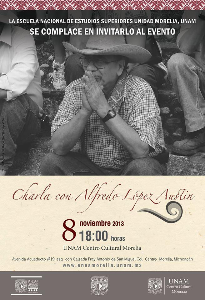 Charla con López Austin en el Centro Cultural UNAM en Morelia