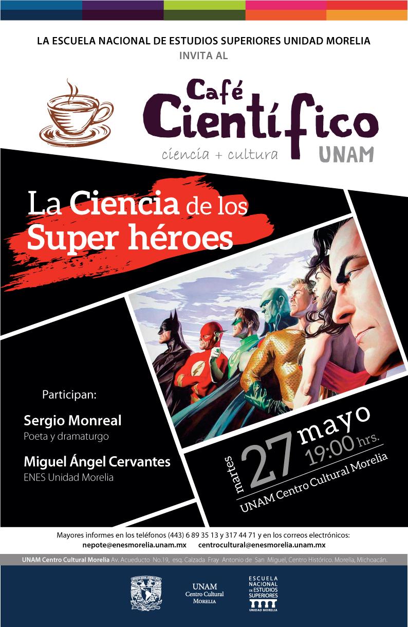 cartel Café Científico Mayo