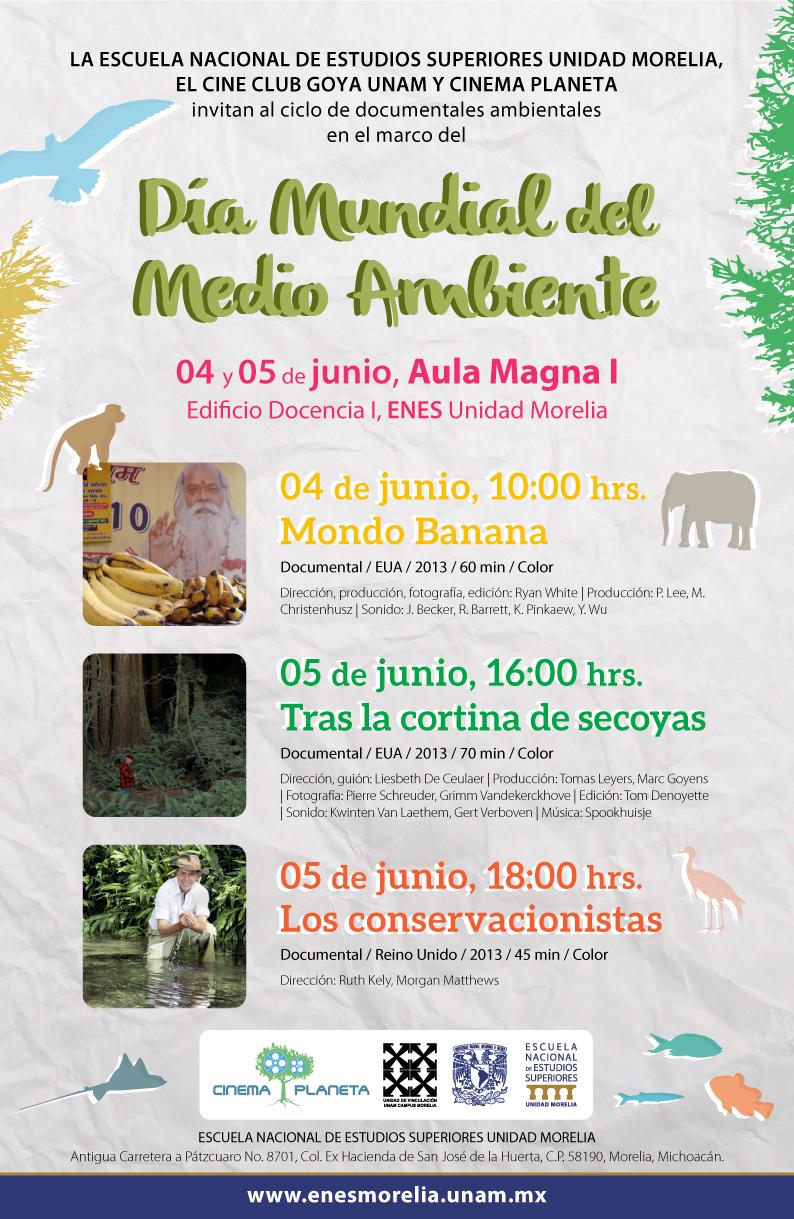 Ciclo de documentales Ambientales ENES Unidad Morelia