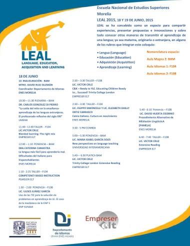 Programa LEAL 2015 - 2
