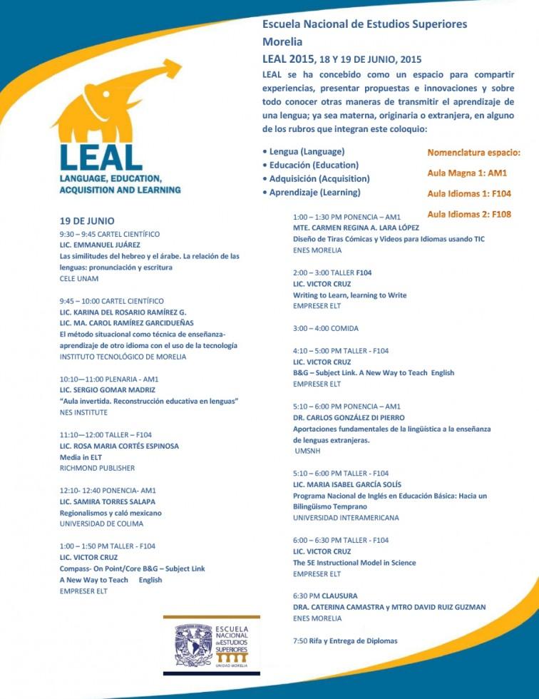 Programa LEAL 2015