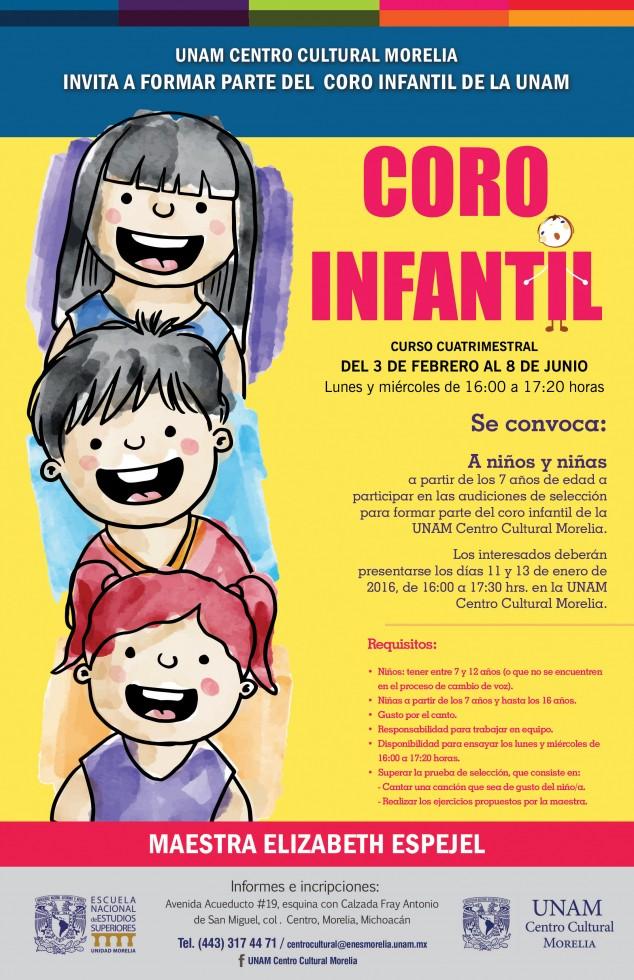 cartel CORO INFANTIL
