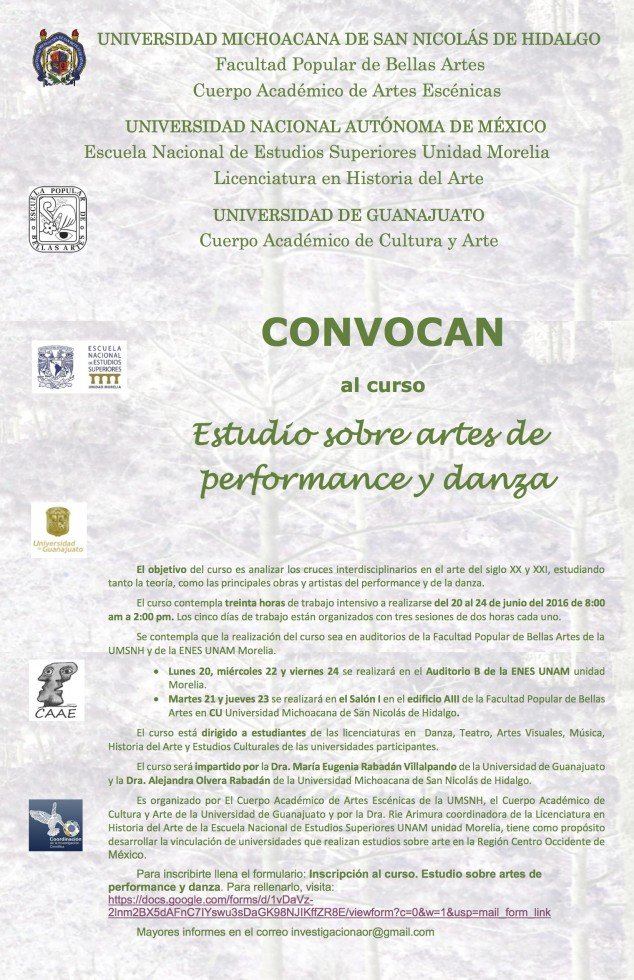Cartel curso performance