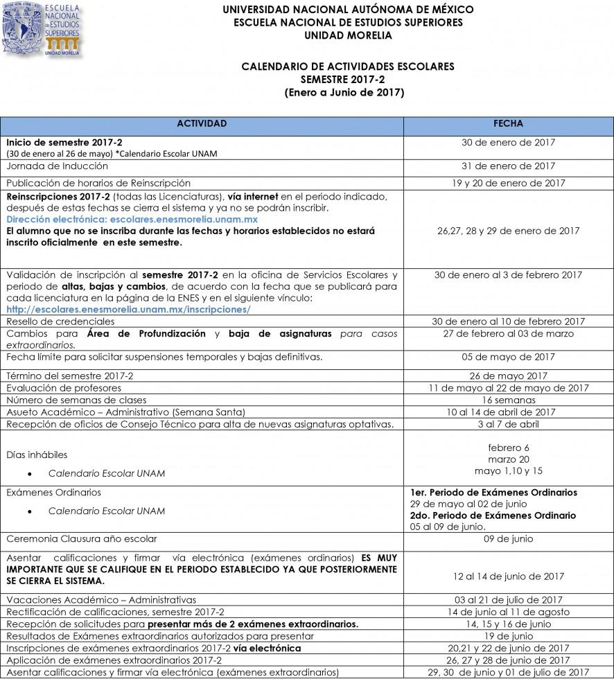 Calendario-Escolar-UNAM-ENES