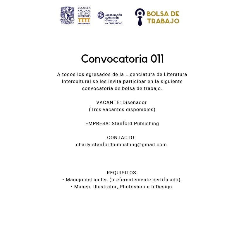 Convocatoria 011. Art Dis