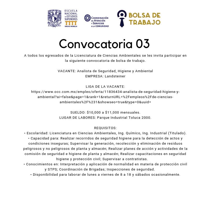 Convocatoria. 03.2019. C. Amb