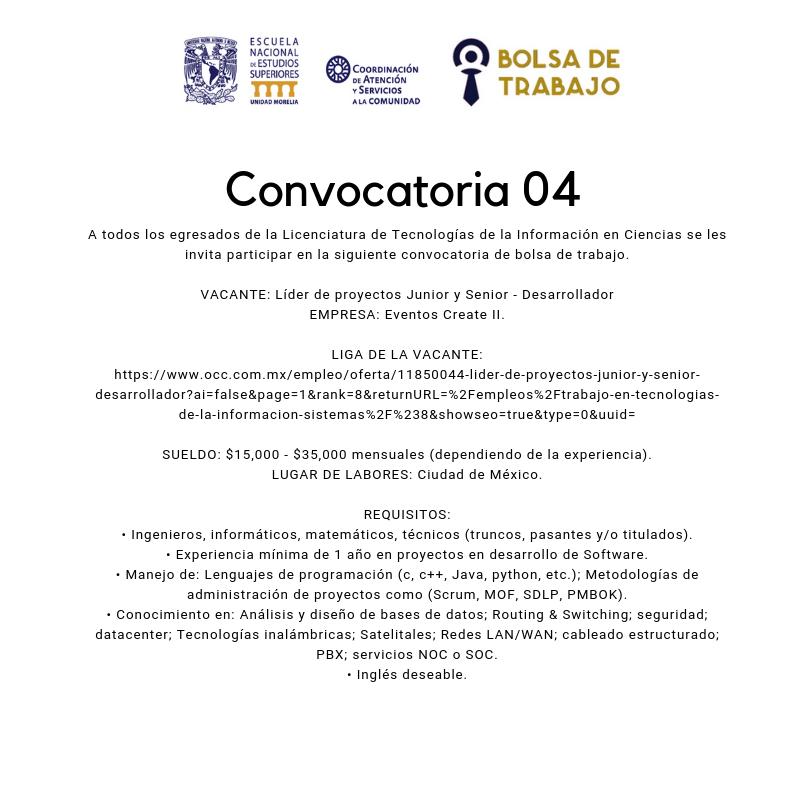 Convocatoria. 04.2019. TICs