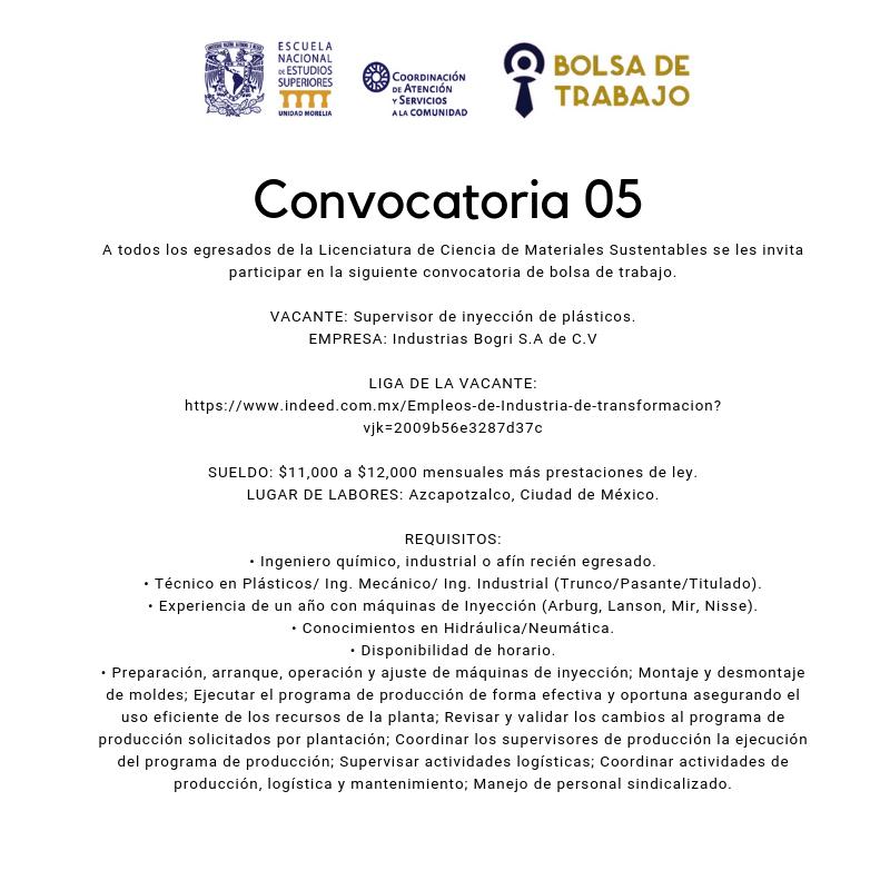 Convocatoria. 05.2019. Mats Sust
