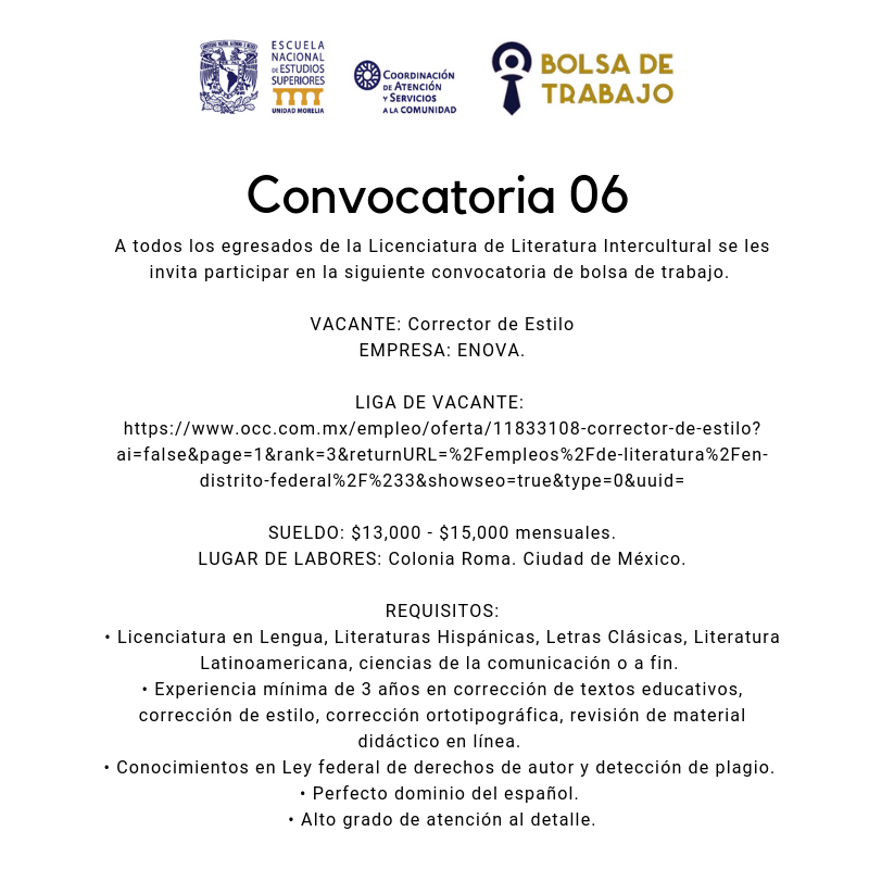 Convocatoria. 06.2019. Lit Int