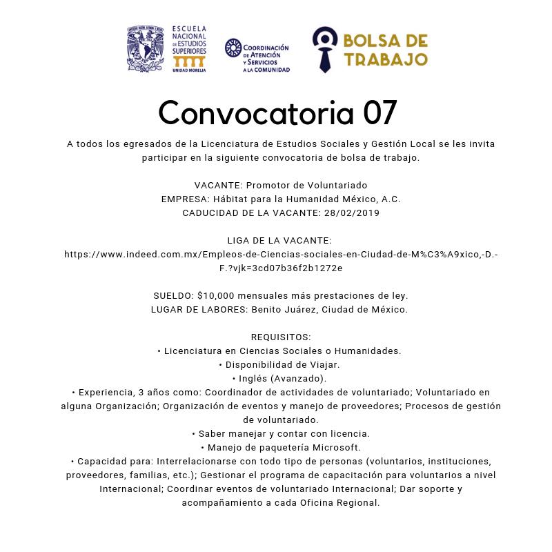 Convocatoria. 07.2019. Est Soc
