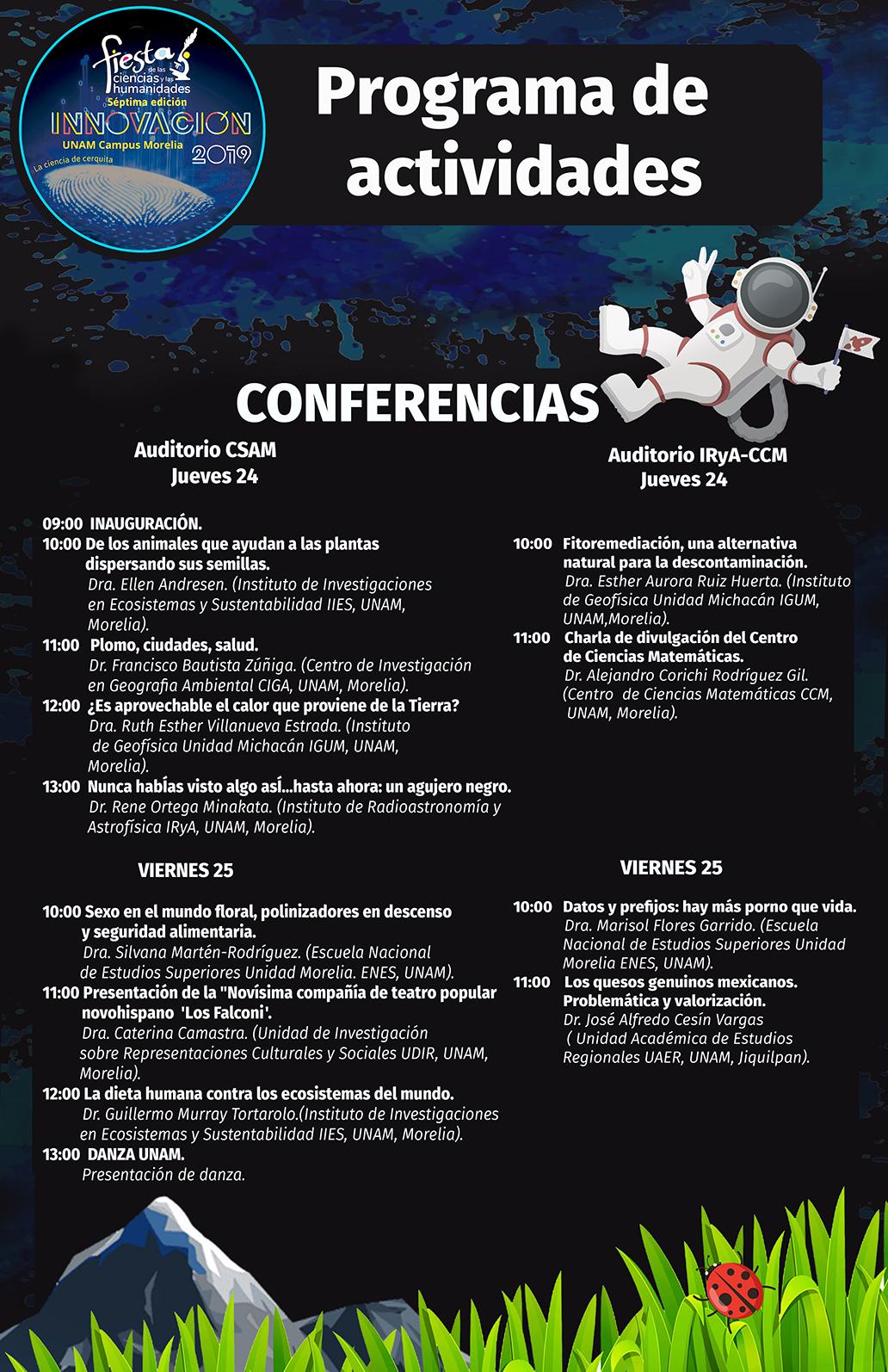 cartel de programa conferencias