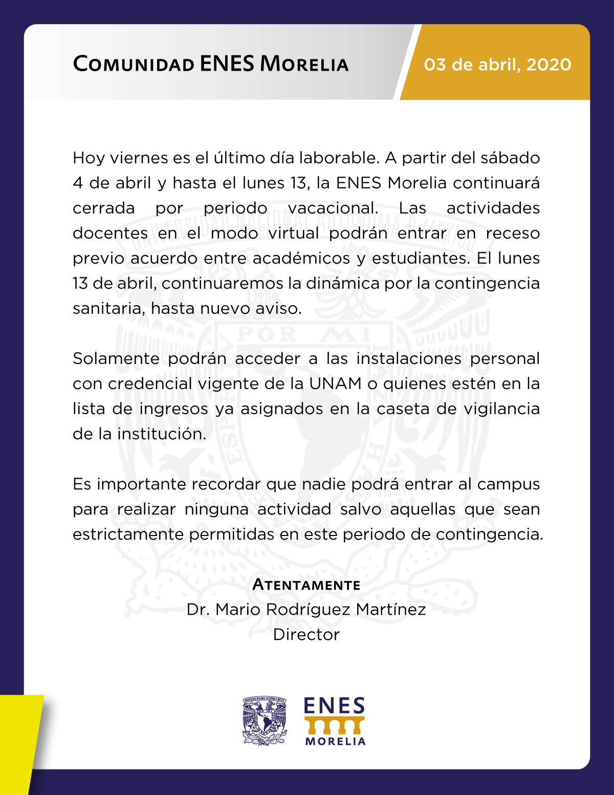 Comunicado-ENES-030320
